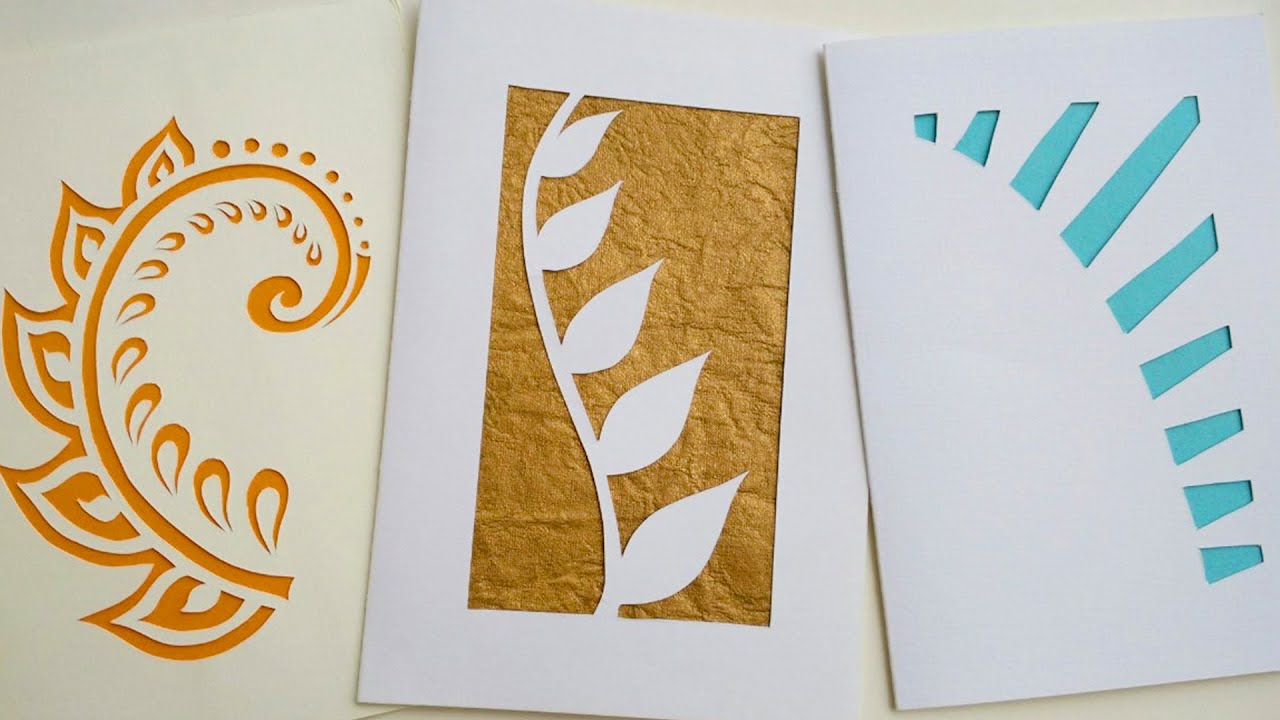 How To Make Greeting Cards | Paper Cutting Art - YouTube