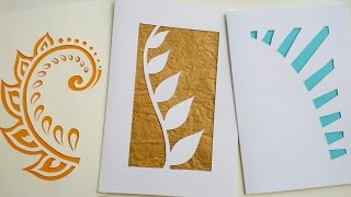 How To Make Greeting Cards | Paper Cutting Art