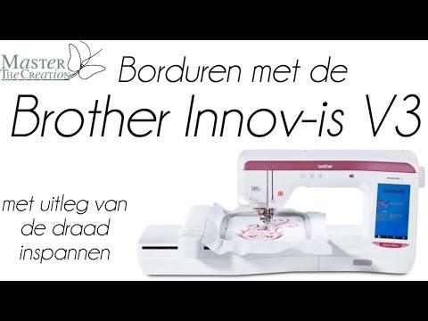 Download Standaard design met Borduurmachine borduren - Inspannen van draad voor Brother Innovis - v3