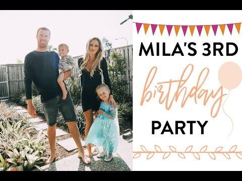 MILA'S 3RD BIRTHDAY PARTY! *AUSSIE MUM VLOGGER*