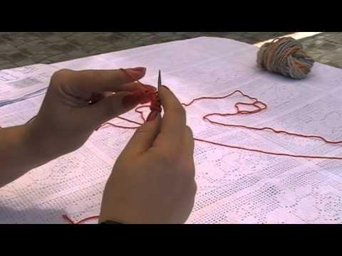 Στρογγυλές βελόνες: Καλή και ανάποδη (knit, purl).