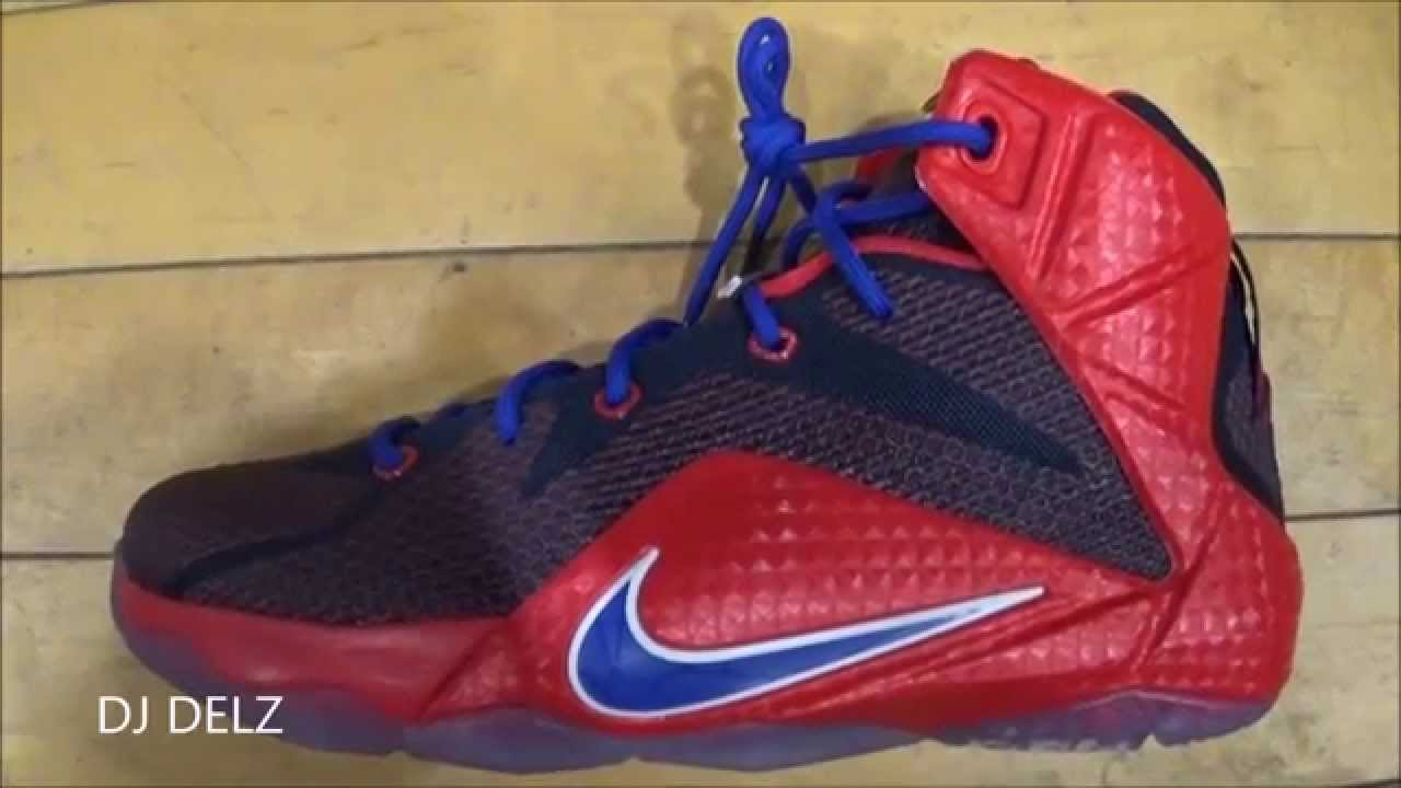 8304fbba64c1b Nike Lebron 12 GS Superman Sneaker With  DjDelz - YouTube