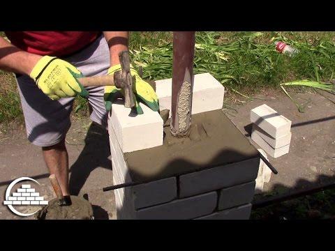 Кирпичная кладка колонны из полуторного, силикатного кирпича - [masterkladki]