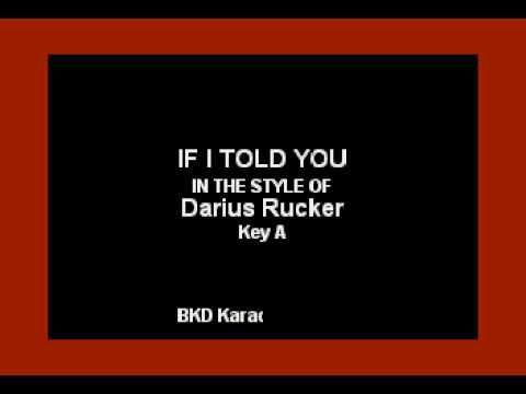 If I Told You (In the Style of Darius Rucker) (Karaoke with Lyrics)