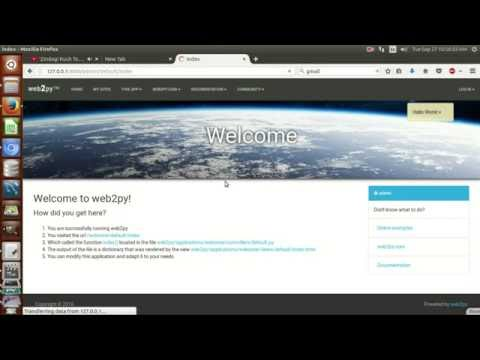 HOW TO INSTALL AND START WEB2PY AND DEMO OF EXAMPLE APPLICATION HOSTING