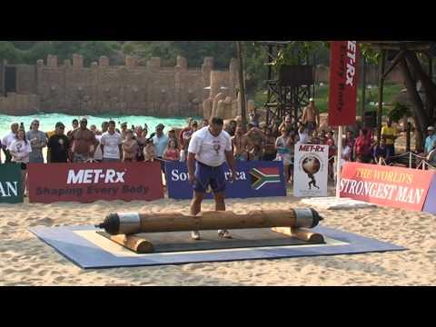 Log-lift-202.5 kg. Mischa Kokliaev (Russia)