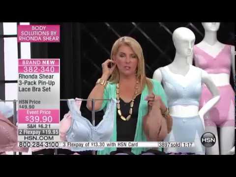 cba55ce6385b3 Rhonda Shear 3Pack PinUp Lace Bra Set - YouTube