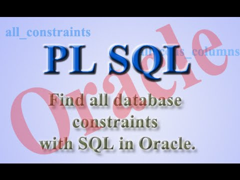 How to find all database constraints with SQL in Oracle