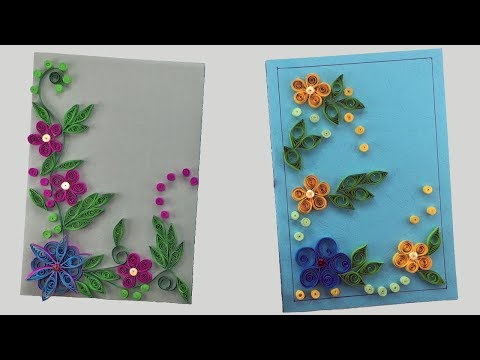 DIY Greeting Card | Paper Quilling | Flower Hand Works | Birthday Card| Paper Crafts|Handmade Craft