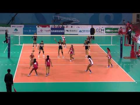 Hong Kong vs Guam Set 1 (6th East Asian Games- Women Volleyball) 9-Oct-2013