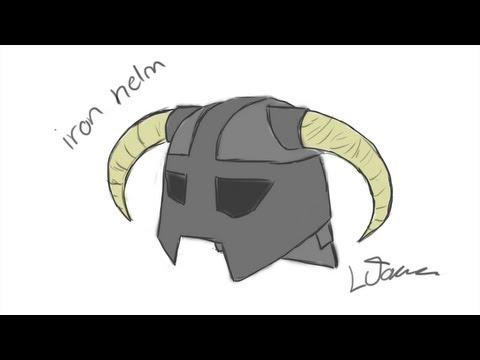 Iron Helmet Skyrim Drawing Download Iron Helmet Skyrim