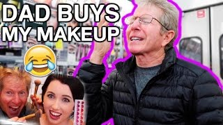 DAD BUYS MY MAKEUP! SHOPPING AT THE DRUGSTORE