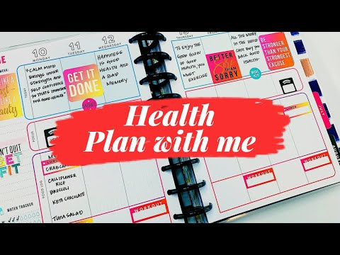Health Plan With Me #planwithme #weeklyplanwithme #happyplanner