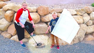 We Found A Treasure Map! Metal Detecting Strange Things at the Mr. E Mansion / The Beach House