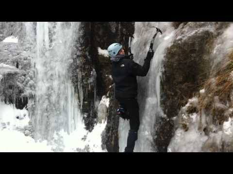 Ice climbing in the Yorkshire Dales