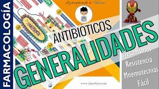 ANTIBIÓTICOS, GENERALIDADES, CLASIFICACIÓN - FARMACOLOGÍA