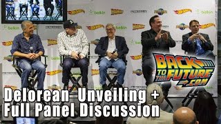 Back to the Future DeLorean Reveal & FULL Panel Q&A - Petersen Auto Museum