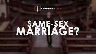 What Does The Bible Say about Same-Sex Marriage?