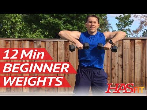 12 Min Beginner Weight Training Strength Training for Beginners Beginner Workout Routine