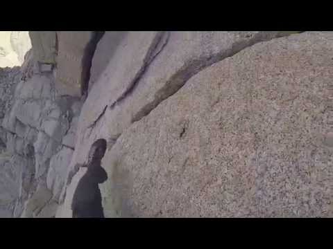Climbing Pitch 7 of Mt Whitney East Buttress