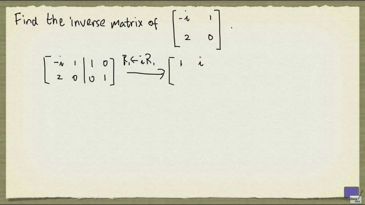 Example Inverse Fraction