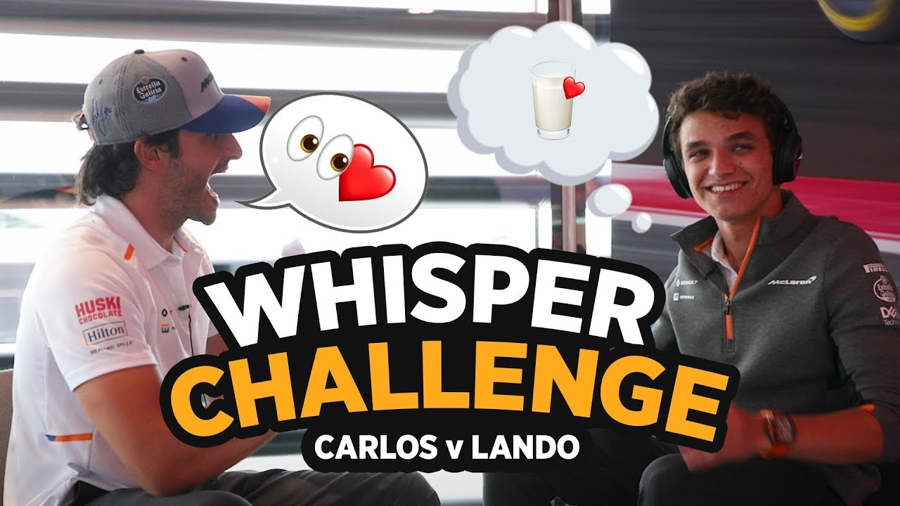 'The Whisper Challenge' ft Carlos Sainz and Lando Norris - Motor Informed