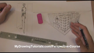 Perspective Art Lesson - How To Draw People In Perspective - Stick Figure Drawing In Perspective