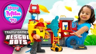 Transformers Rescue Bots Griffin Rock Firehouse Headquarters By Hasbro | HappyMilaTV #294
