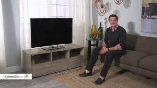 Finley Home Hudson Low Profile TV Stand - Driftwood - Product Review Video