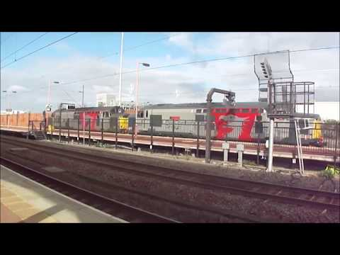 Trains @ Rugby *late 50 sub special* part one WCML