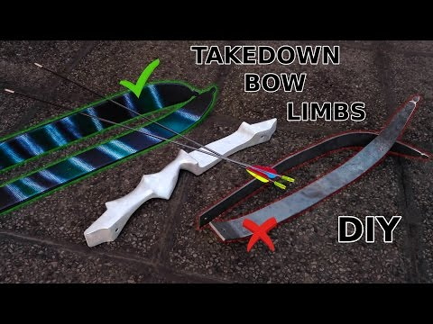 DIY Takedown Bow Limbs! Steel And Skis