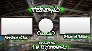 Outro Template Graffiti | Descarga  Gratis! | PhotoShop ✅
