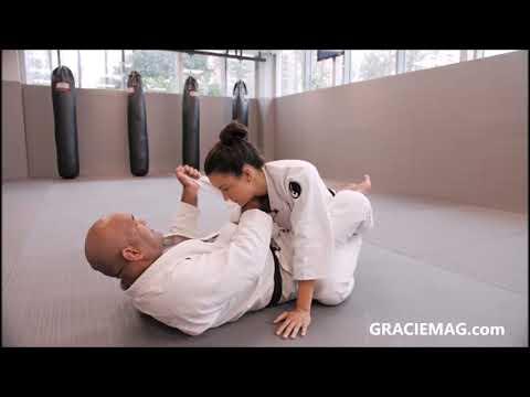 O estrangulamento de guarda que Kyra Gracie aprendeu com Luciano Jatobá