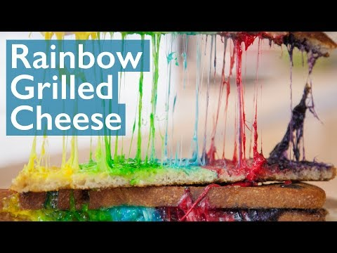 Rainbow Grilled Cheese Pull!