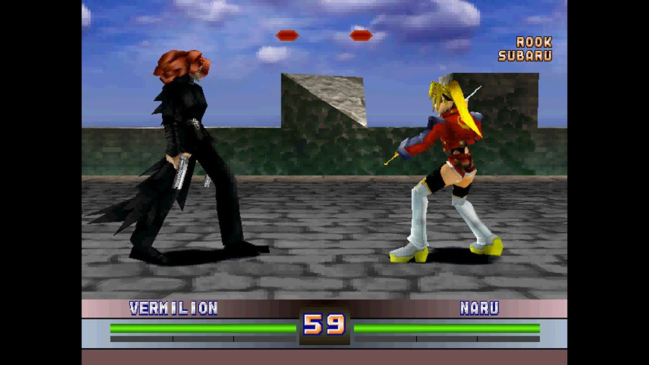 Battle Arena Toshinden 4 Ps1 Play As Vermilion Youtube