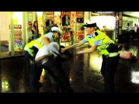 Australian Police stopping a fight