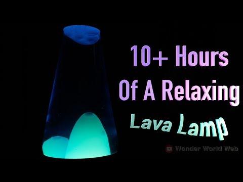 Lava Lamp Screen Saver to fall asleep too| Satisfying Liquid Background, Blue Liquid, White Green 4K
