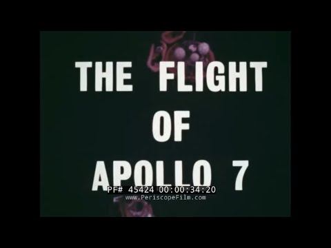 NASA APOLLO PROGRAM APOLLO 7 MISSION DOCUMENTARY FILM ...