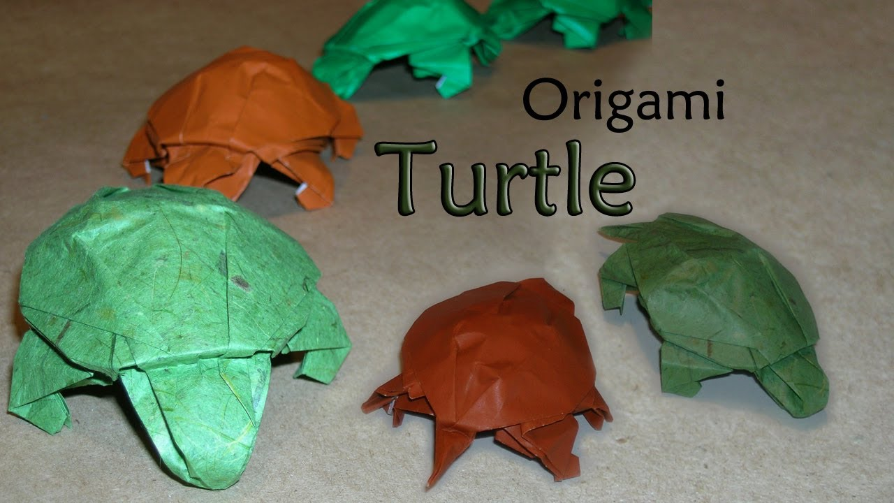 Turtle and Baby Turtle Origami Ver.2 for Kids Tutorial | 720x1280