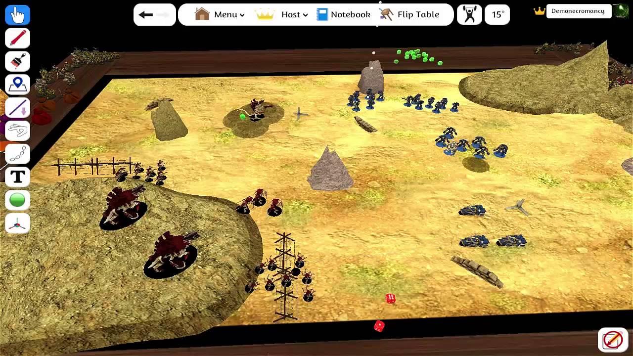 warhammer 40k space marines vs tyranids tabletop simulator youtube