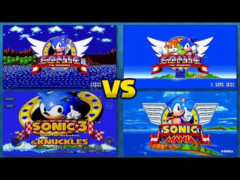 Sonic Mania vs Sonic 1, 2, 3, CD, \u0026 Knuckles ALL COMPARISONS