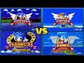 Sonic Mania vs Sonic 1, 2, 3, CD, & Knuckles ALL COMPARISONS