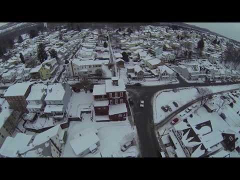 Ful Evening Snow Views, Eight Flights Above Tamaqua, 2-16-2014