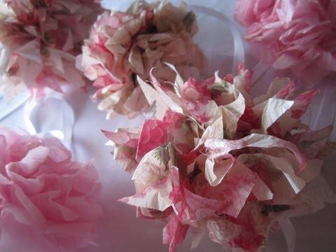 Diy Tissue Paper Pom Poms Weddings Decoration Valentines