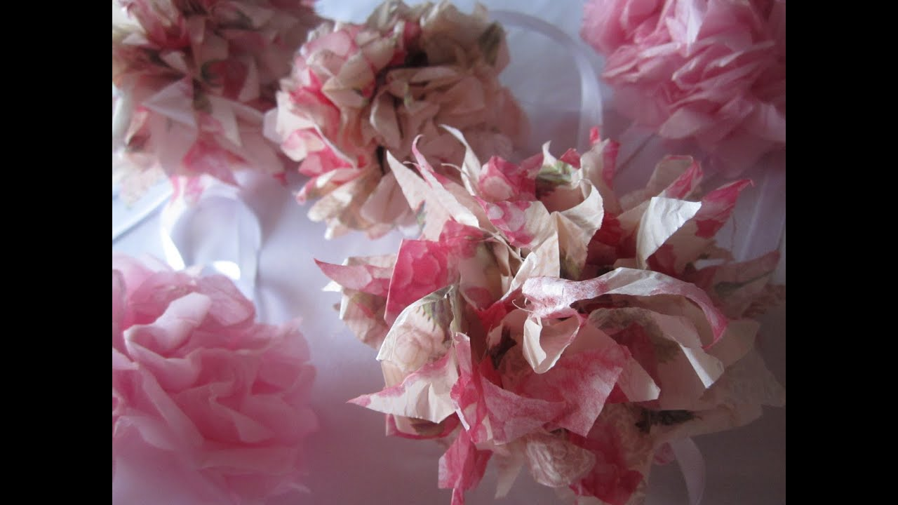 Diy tissue paper pom poms weddings decoration valentines youtube solutioingenieria Images