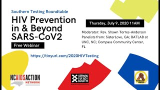 Southern Testing Roundtable: HIV Prevention in & beyond SARS-CoV2