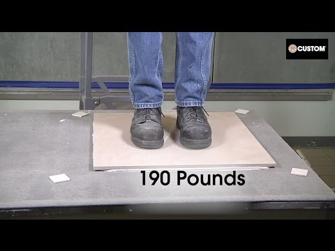 VersaBond — LFT Weight Test: Can your Mortar Stand up to Large Format Tile?