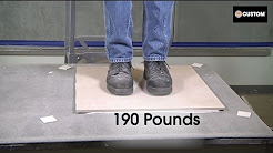 VersaBond - LFT Weight Test: Can your Mortar Stand up to Large Format Tile?