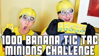 1000 Banana Tic Tac Minions Challenge | WheresMyChallenge