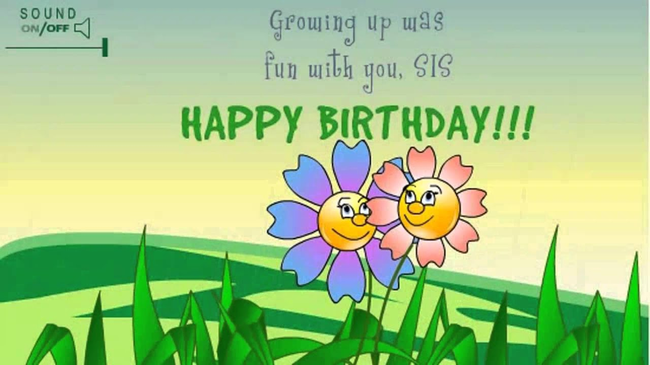 Happy Birthday Sister Wishes Ecards Message – Birthday Greetings for Sister Message